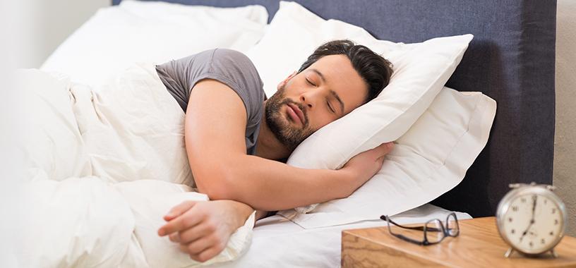Persona durmiendo placidamente.